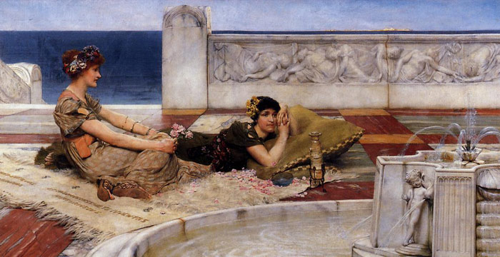 Sir Lawrence Alma-Tadema Reproductions-Love's Votaries, 1891