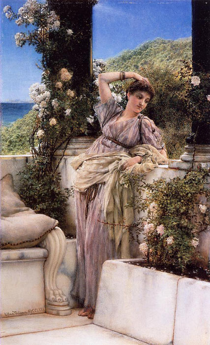 Sir Lawrence Alma-Tadema Reproductions-Thou Rose of all the Roses, 1883