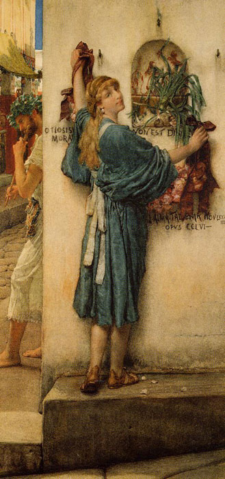 Paintings Reproductions Alma-Tadema,Sir Lawrence A Street Altar, 1883