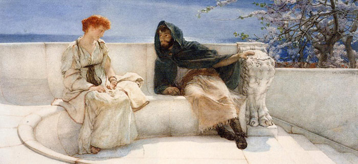 Sir Lawrence Alma-Tadema Reproductions-A Declaration, 1883