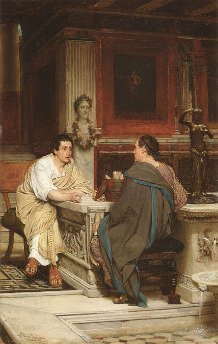 Sir Lawrence Alma-Tadema Reproductions-The Discourse