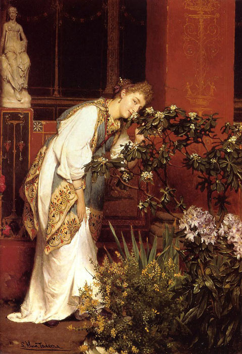Sir Lawrence Alma-Tadema Reproductions-In the Peristyle, 1866