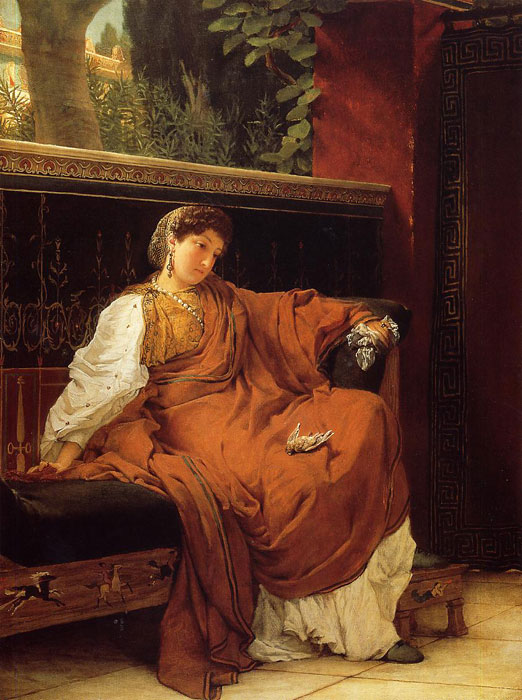 Paintings Reproductions Alma-Tadema,Sir Lawrence Lesbia Weeping over a Sparrow, 1866