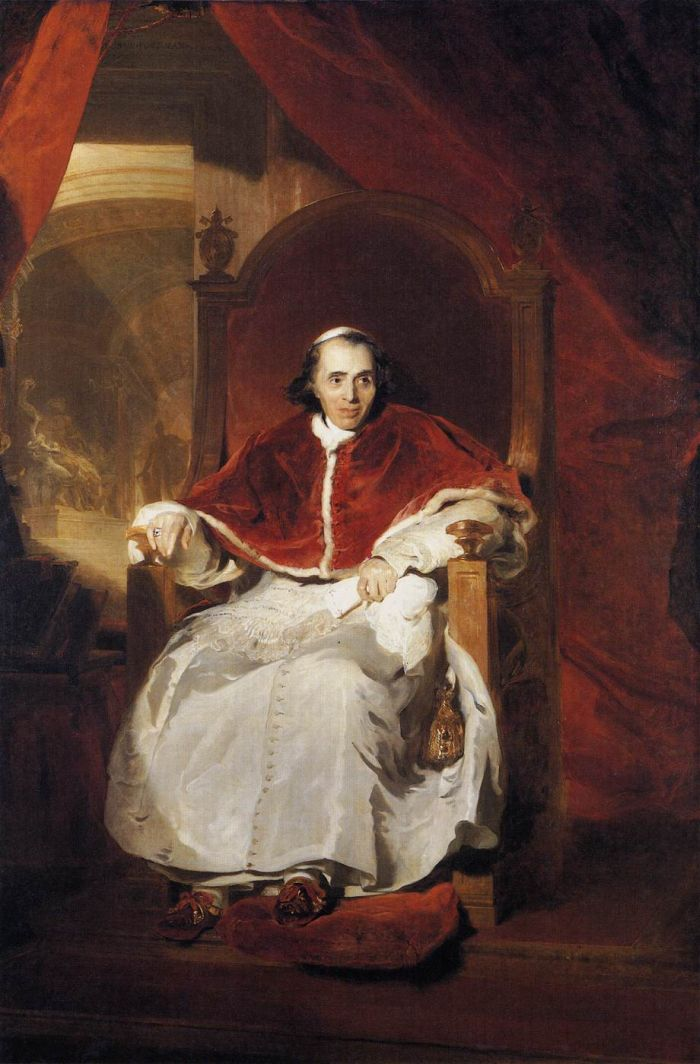 Sir Thomas Lawrence Reproductions-Pope Pius VII, 1819