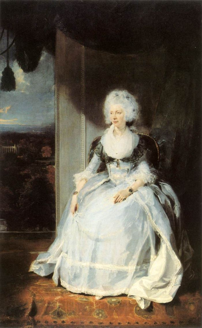 Sir Thomas Lawrence Reproductions-Queen Charlotte, 1789