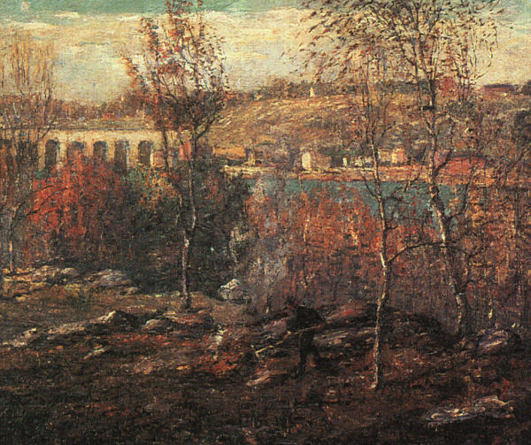 Ernest Lawson Reproductions-Harlem River, 1910