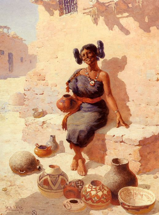 William Robinson Leigh Reproductions-Hopi Pottery Merchant, 1941