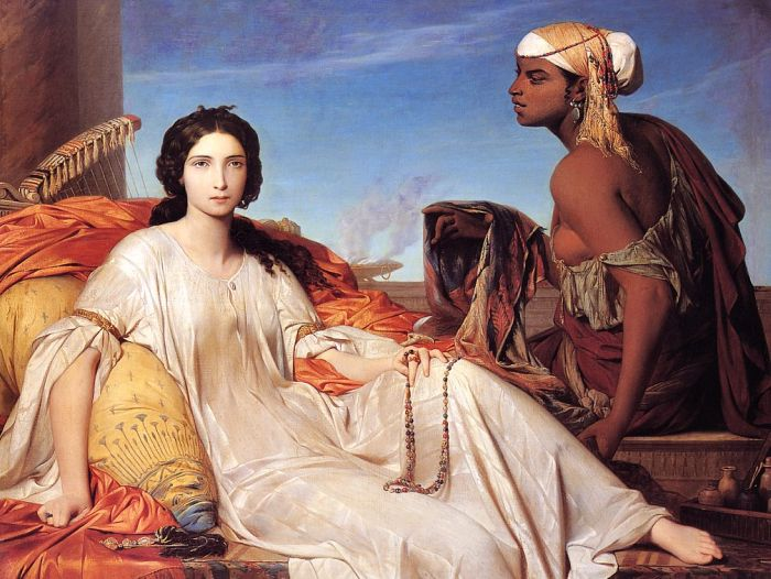Leon Benouville Reproductions-Odaliske ( Esther ), 1844