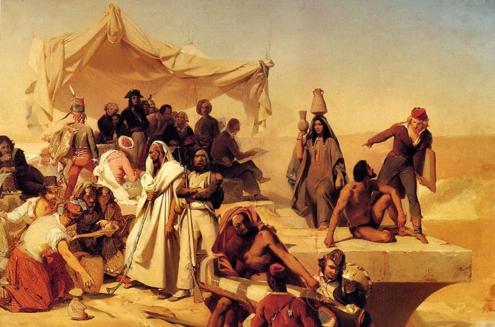 Paintings Reproductions Cogniet, Leon The Egyptian Expedition Under the Command of Bonaparte
