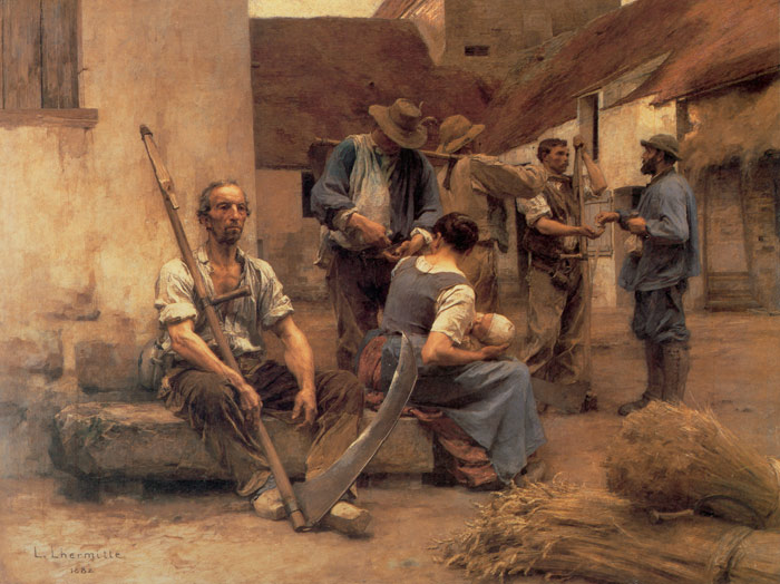 Leon Augustin L HermitteReproductions-La Paye des moissonneurs [Paying the Harvesters], 1892