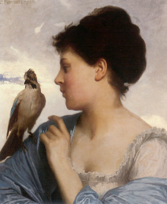 Leon Bazile Perrault Reproductions-The Bird Charmer, 1873