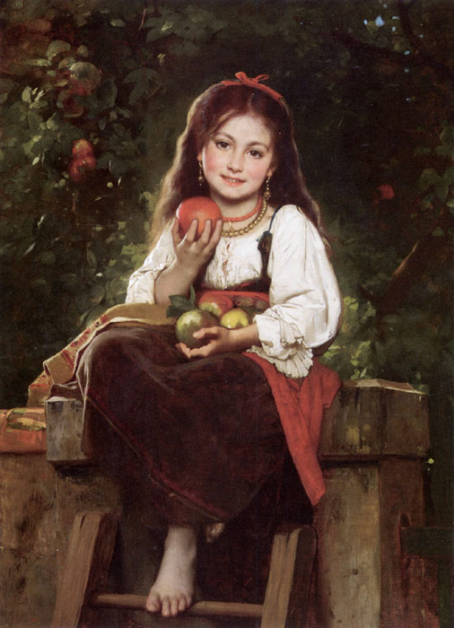 Leon Bazile Perrault Reproductions-The Apple Picker, 1879