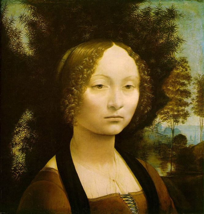 Paintings Reproductions Leonardo da Vinci Retrato de Ginevra de Benci - 1474-1478