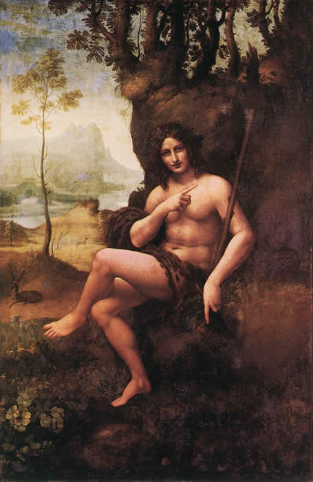 Leonardo da Vinci Reproductions-Saint John the Baptist, 1510
