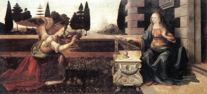 Leonardo da Vinci Reproductions-The Annunciation, 1472–1475