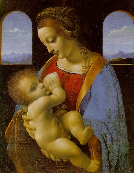 Paintings Reproductions Leonardo da Vinci Madonna Litta, 1490