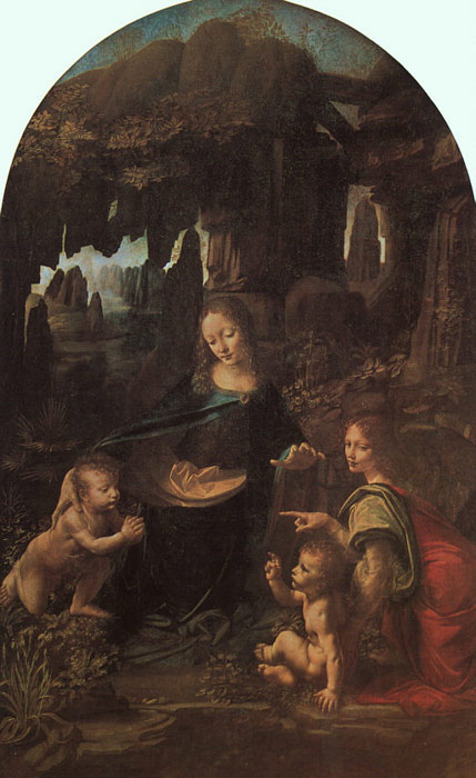Leonardo da Vinci Reproductions-Virgin of the Rocks, 1486