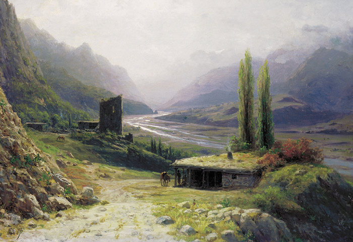 Paintings Reproductions Lagorio, Lev Feliksovich Kavkaz Landscape,  1893