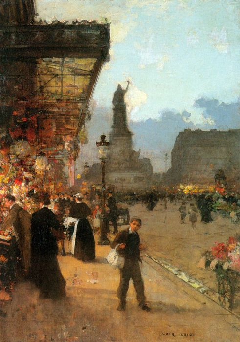 Luigi Loir Reproductions-La Place de la Republique, Paris