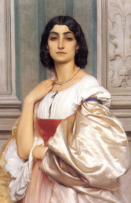 Paintings Reproductions Leighton, Lord Frederick A Roman Lady, 1858-1859