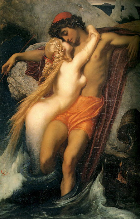 Lord Frederick Leighton Reproductions-The Fisherman and the Syren, c.1856-1858