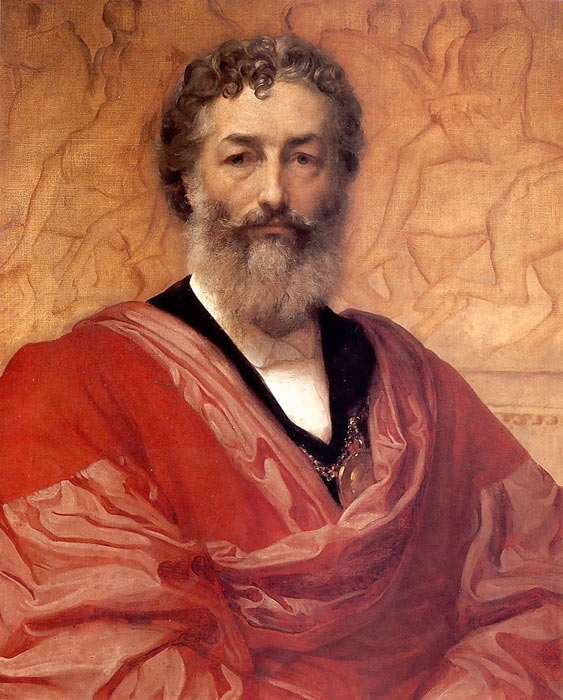 Lord Frederick Leighton Reproductions-Self-portrait, 1880