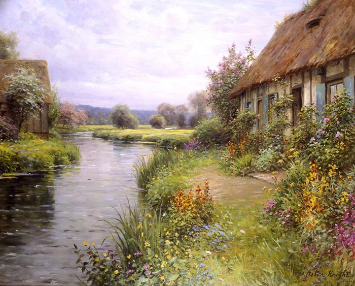 Louis Aston Knight Reproductions-A Bend in the River