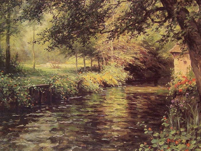 Louis Aston Knight Reproductions-A Sunny Morning At Beaumont-Le-Roger