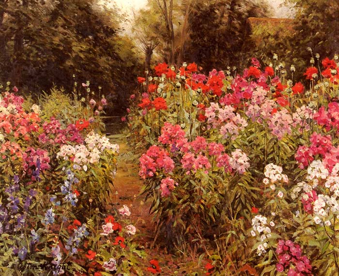 Louis Aston Knight Reproductions-A Flower Garden, 1885