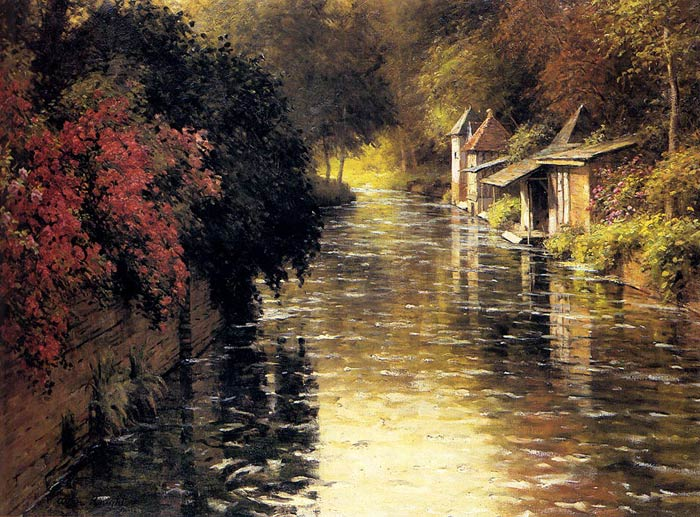 Louis Aston Knight Reproductions-A French River Landscape