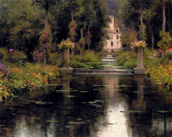 Louis Aston Knight Reproductions-View Of A Chateaux
