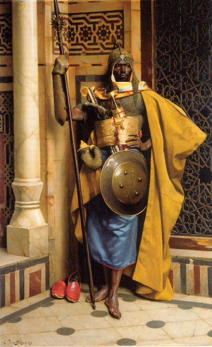 Paintings Reproductions Deutsch, Ludwig The Palace Guard, 1892