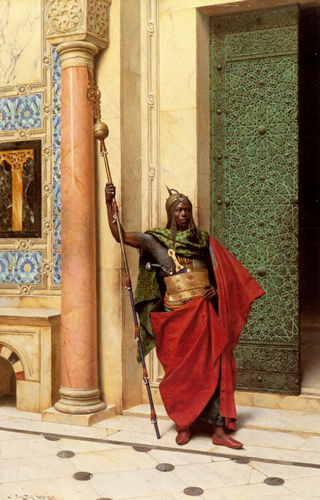 Paintings Reproductions Deutsch, Ludwig A Nubian Guard, 1895