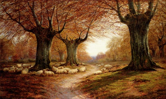 William Luker Reproductions-An Autumnal Landscape, 1874