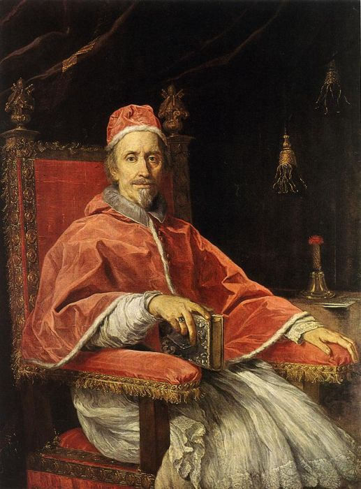 Carlo Maratti Reproductions-Portrait Of Pope Clement IX, 1669