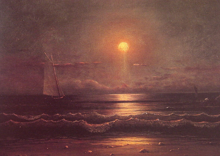 Martin Johnson Heade Reproductions-Sailing by Moonlight, c.1860
