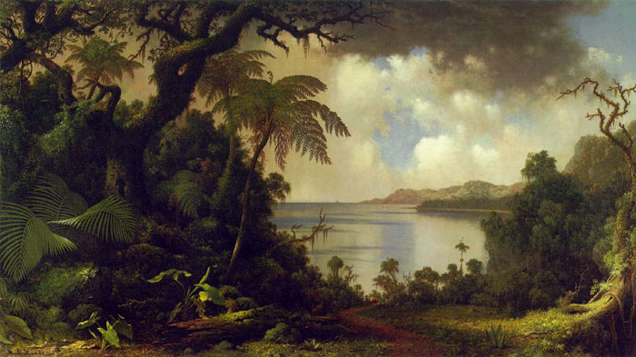 Martin Johnson Heade Reproductions-View from Fern Tree Walk, Jamaica, c.1870