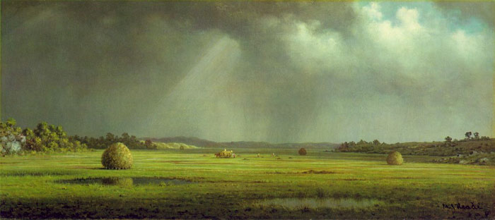 Martin Johnson Heade Reproductions-Newburyport Meadows, c.1872-1878