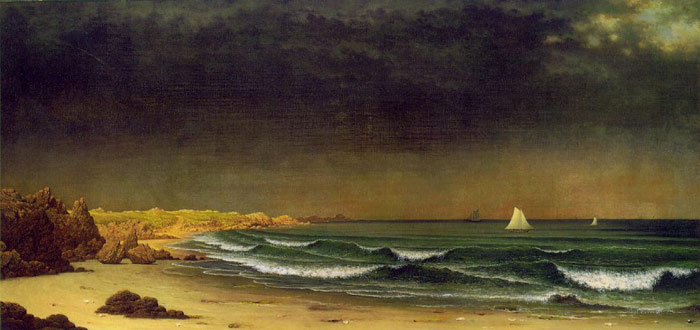 Martin Johnson Heade Reproductions-Approaching Storm, Beach Near Newport, c.1866-1867