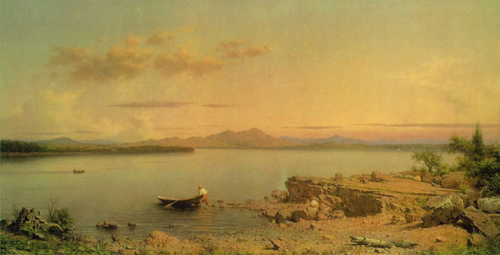 Martin Johnson Heade Reproductions-Lake George, 1862