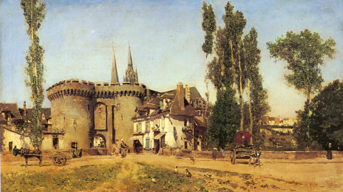 Martin Rico y Ortega Reproductions-The Village of Chartres