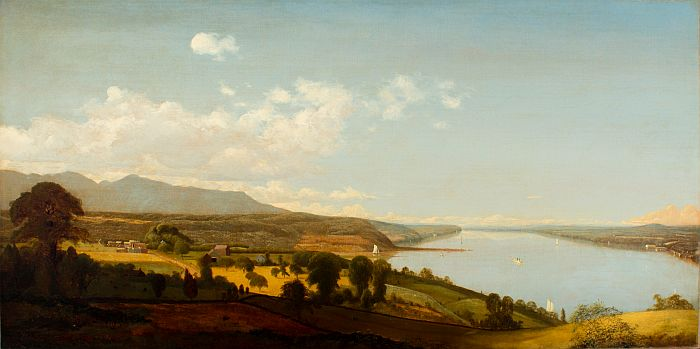 Paintings Reproductions McEntee, Jervis View on the Hudson Near the Rondout