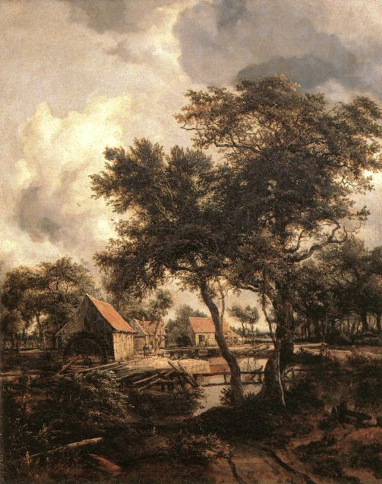 Meindert Hobbema Reproductions-The Water Mill, 1660