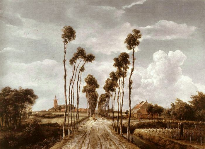 Meindert Hobbema Reproductions-The Alley at Middelharnis, 1689