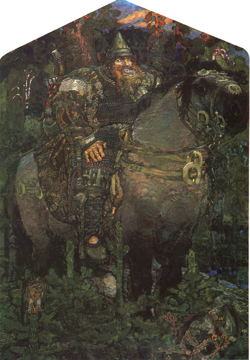 Paintings Reproductions Vrubel, Michail The Bogatyr (Hero), 1898