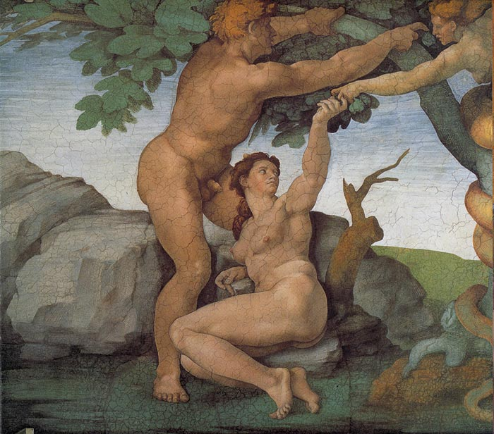 Michelangelo  Reproductions-The Original Sin, 1508-1512