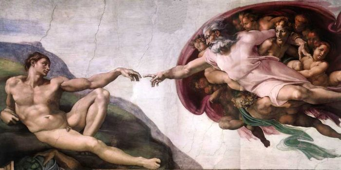 Michelangelo  Reproductions-The Creation of Adam, Circa 1511( Before Restoration)