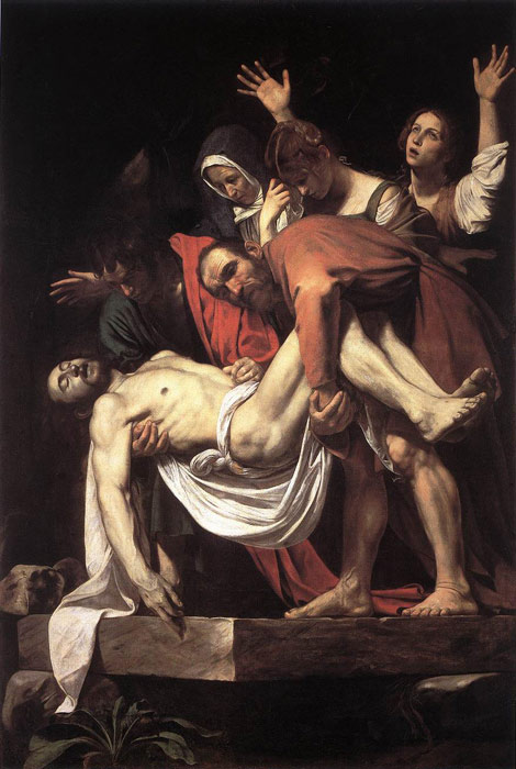 Paintings Reproductions Caravaggio, Michelangelo Merisi da The Entombment, 1602-1603