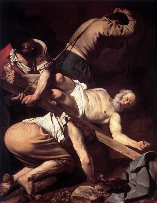 The Crucifixion of Saint Peter, 1600 Caravaggio, Michelangelo Merisi da Painting Reproductions