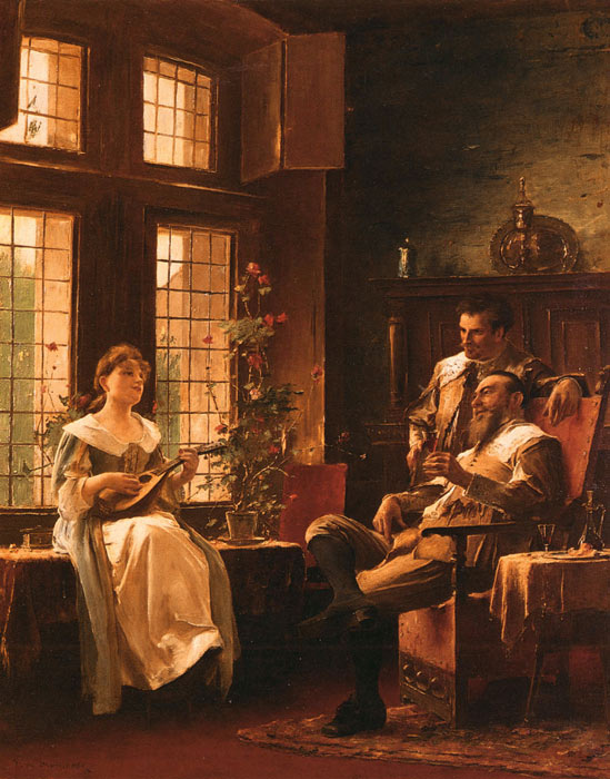 Mihaly von Munkacsy Reproductions-A Tender Chord